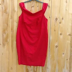 Torrid Red Bodycon Offshoulder Dress